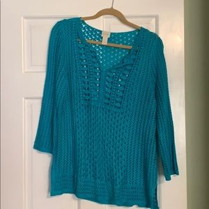 Chico's lacy summer sweater. Chico Size 2